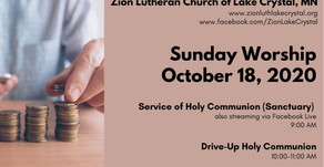 October 18 Online Resources for Worship