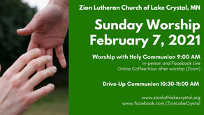 February 7, 2021 Online Resources for Worship