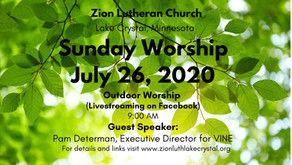 July 23, 2020: Online Resources for Worship