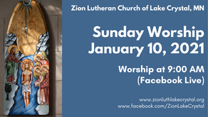 January 10, 2021 Online Resources for Worship