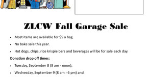 ZLCW Fall Garage Sale