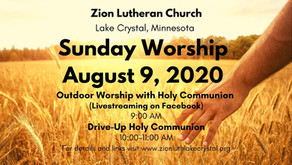 July 26, 2020: Online Resources for Worship