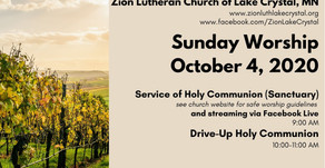 October 4 Online Resources for Worship