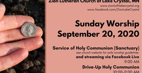 September 20 Online Resources for Worship