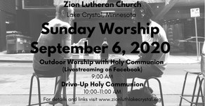 September 6 Online Resources for Worship