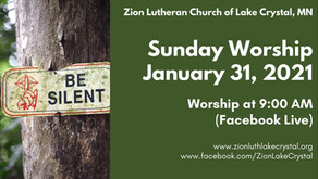 January 31, 2021 Online Resources for Worship