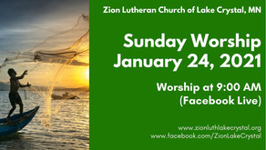 January 24, 2021 Online Resources for Worship