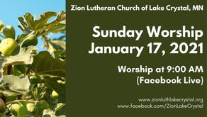 January 17, 2021 Online Resources for Worship