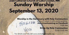 September 13 Online Resources for Worship