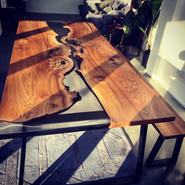 Elm River Table and Benches