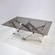 Glass and Steel Table