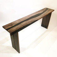 Walnut & Resin Console Table