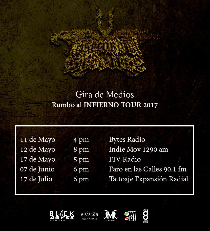 Rumbo al InfierNO Tour 2017: ASoS en Gira de Medios