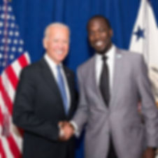 Ace Barnes and Joe Biden