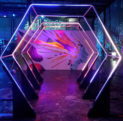 LED Lights Entrance Tunnel