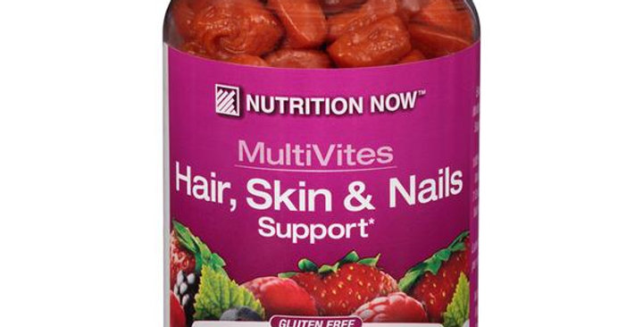 NUTRITION NOW MULTIVITES+ HAIR SKIN AND NAILS SUPPORT 70 COUNT