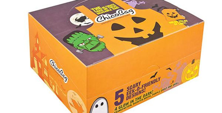 """CHICOBAG ORIGINAL HALLOWEEN REUSABLE SHOPPING BAGS 10 PACK WITH DISPLAY BOX 17"""""""