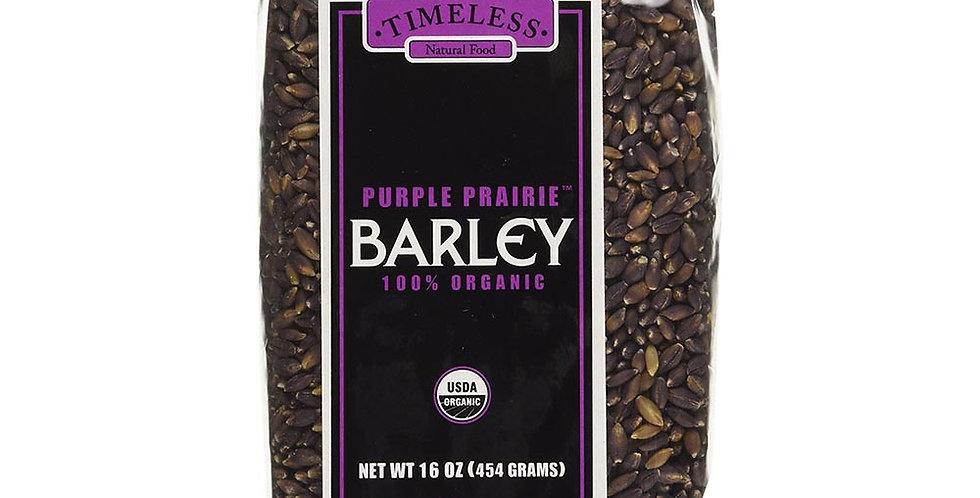 TIMELESS NATURAL FOODS ORGANIC HEIRLOOM SEMI-PEARLED PURPLE PRAIRIE BARLEY