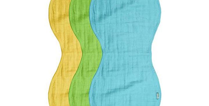 GREEN SPROUTS 3-PIECE MUSLIN BURP CLOTHS