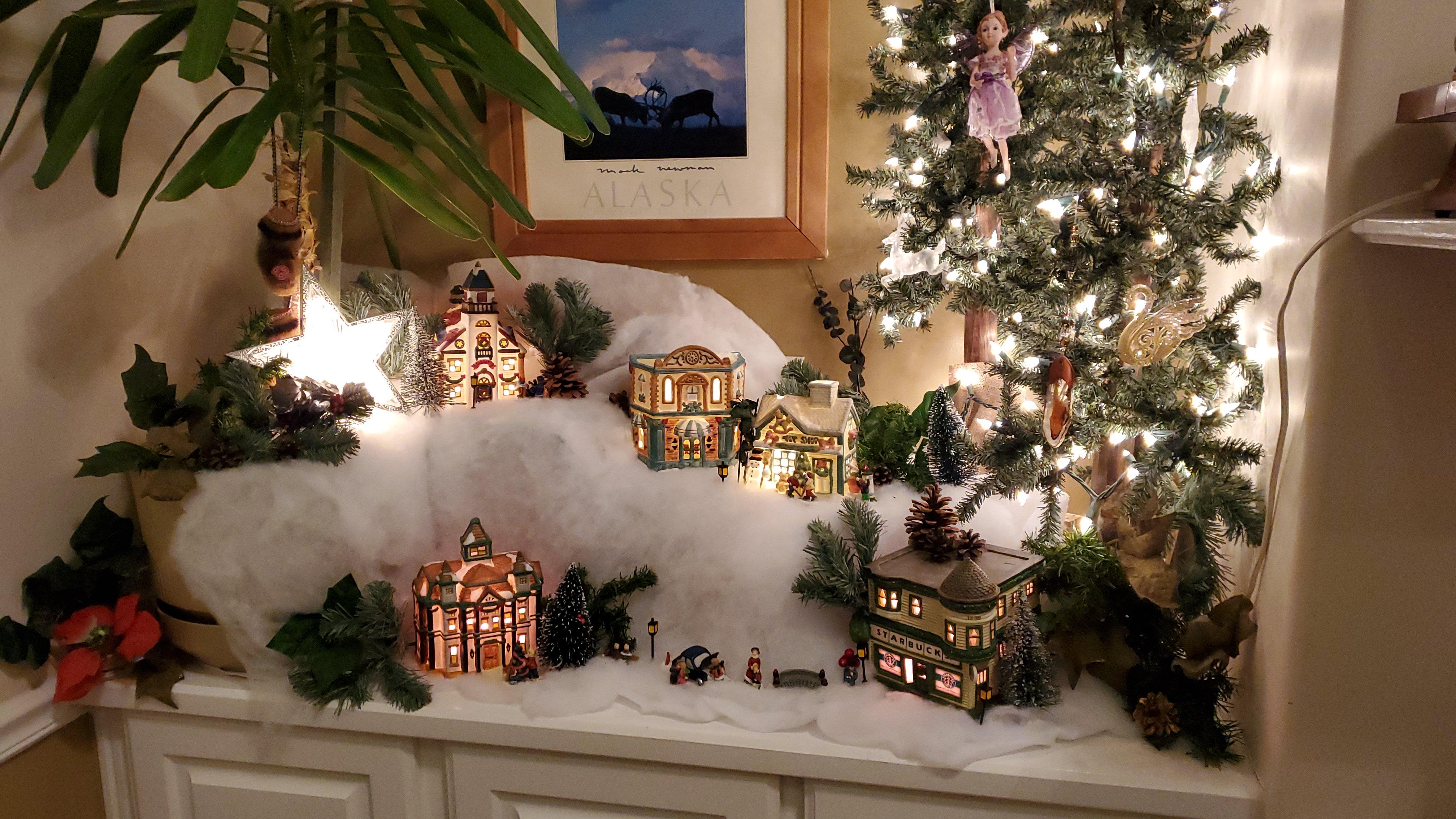 great room christmas village
