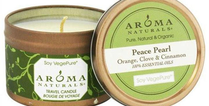 "Aroma Naturals Peace Pearl White Small Tin 2 1/2"" x 1 3/4"""