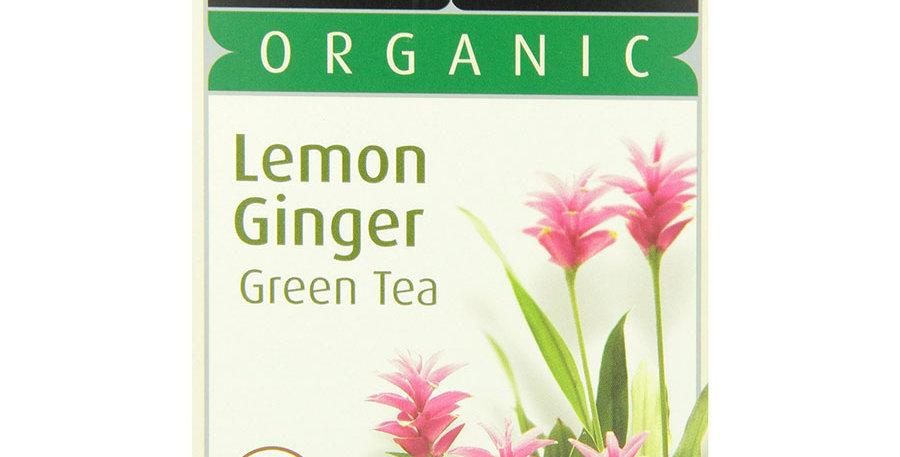 STASH TEA ORGANIC LEMON GINGER GREEN TEA BAGS