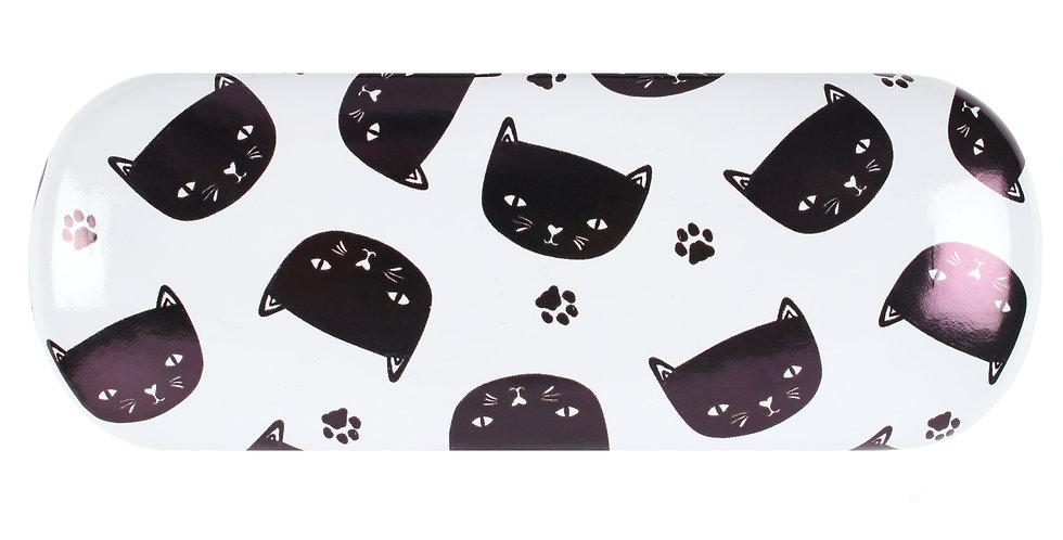 BLACK CAT EYE GLASS CASE