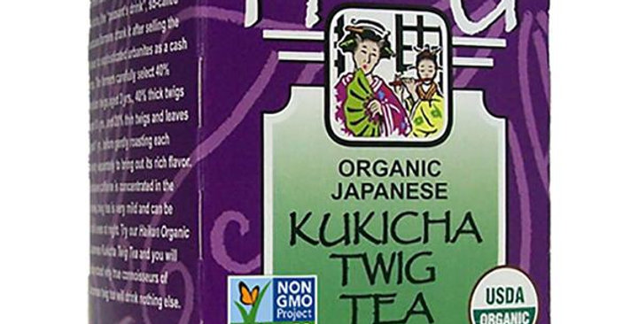 GREAT EASTERN SUN ORGANIC JAPANESE TWIG (KUKICHA/BANCHA) TEA 16 TEA BAGS
