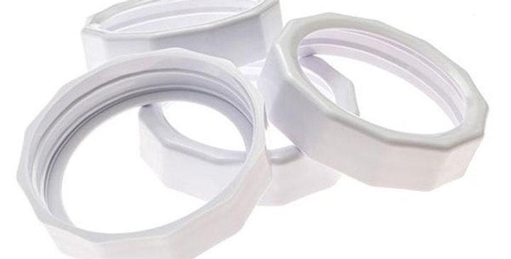 MASONTOPS WIDE MOUTH RUST-PROOF PLASTIC JAR TOUGH BANDS 4 COUNT