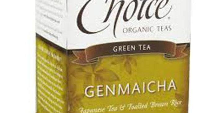 CHOICE TEAS GENMAICHA ORGANIC TEA BAGS