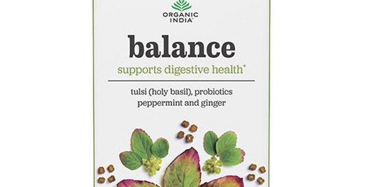 ORGANIC INDIA PREVENTION BALANCE WELLNESS TEA 18 INFUSION TEA BAGS