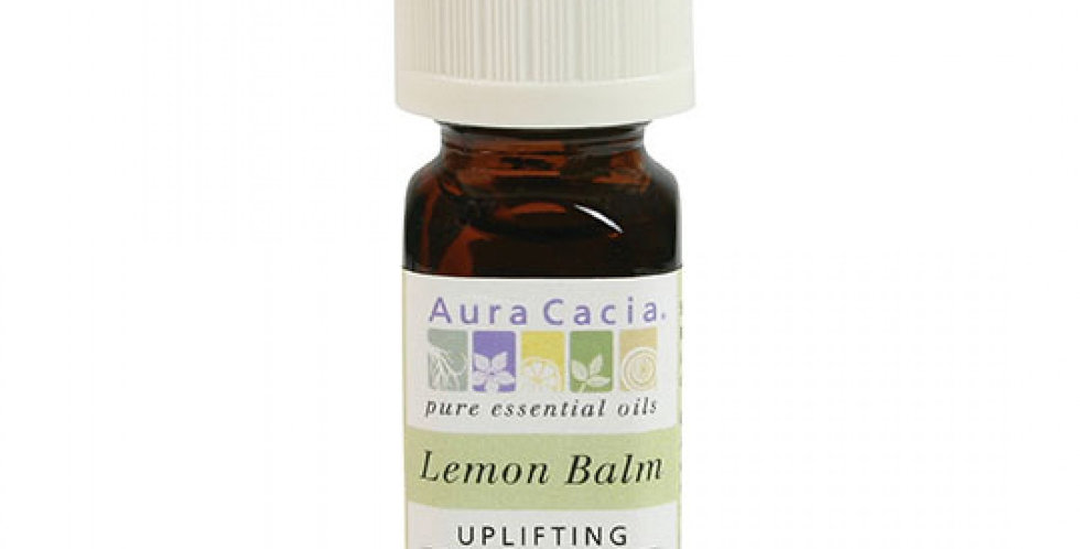Aura Cacia Lemon Balm Essential Oil 0.125 fl. oz.