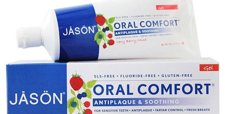 JASON ORAL COMFORT SOOTHING FLUORIDE-FREE TOOTHPASTE 4.2 OZ.