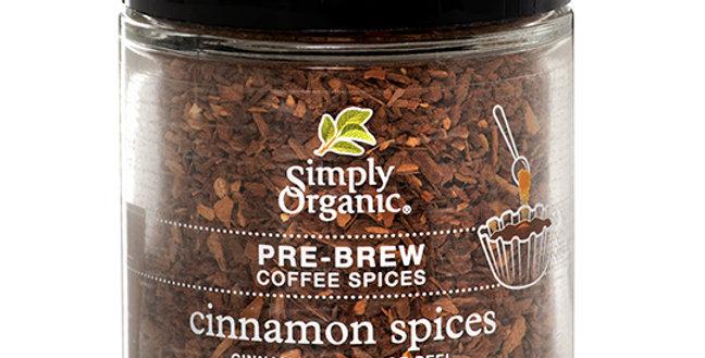 SIMPLY ORGANIC PRE-BREW COFFEE SPICE - CINNAMON SPICES