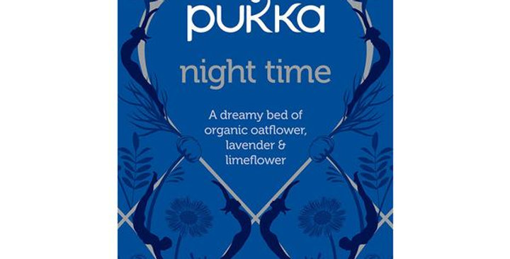 PUKKA ORGANIC NIGHT TIME HERBAL TEA 20 TEA SACHETS