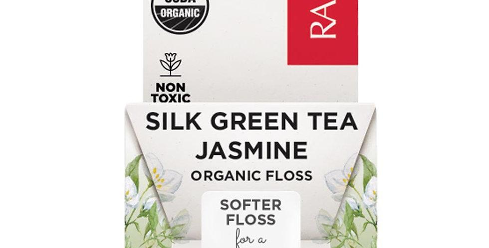 RADIUS ORGANIC SILK GREEN TEA JASMINE DENTAL FLOSS 33 YARDS