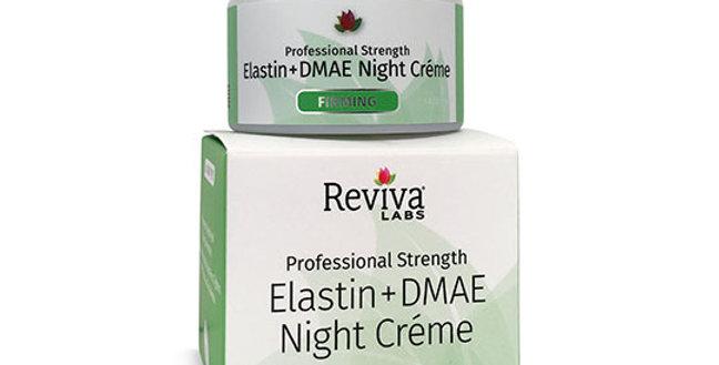 REVIVA LABS ELASTIN & DMAE NIGHT CREAM 1.5 OZ.