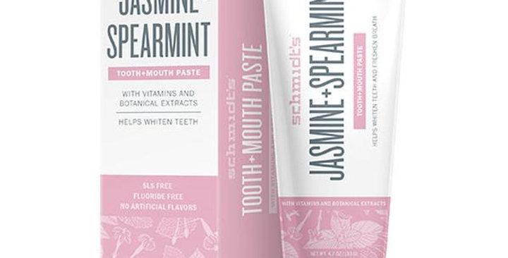 SCHMIDT'S DEODORANT JASMINE SPEARMINT TOOTH + MOUTH PASTE 4.7 OZ.