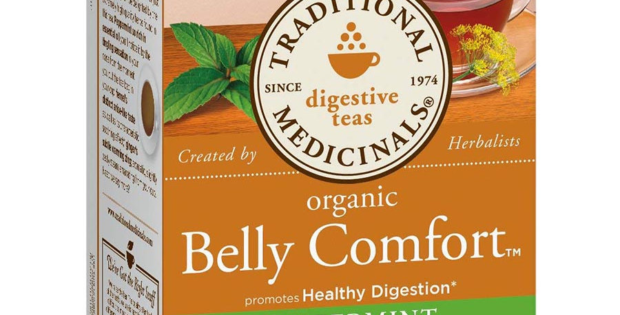 TRADITIONAL MEDICINALS ORGANIC BELLY COMFORT TEA 16 TEA BAGS