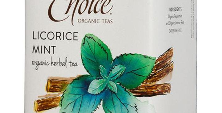 CHOICE TEAS LICORICE MINT GOURMET TEA