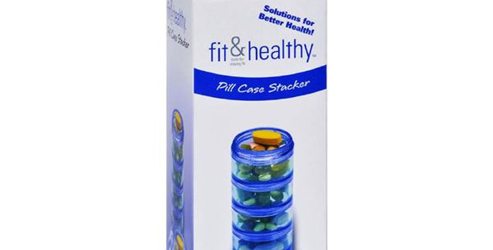 """FIT & HEALTHY PILL CASE STACKER 4 1/2"""" X 1 3/4"""" OVERALL"""