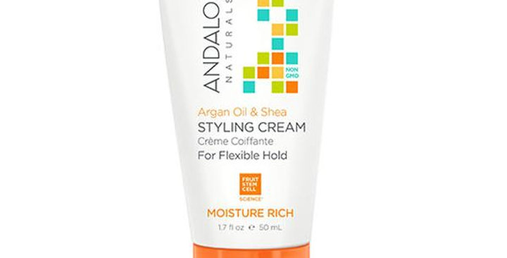 Andalou Naturals Argan Oil and Shea Moisture Rich Styling Cream 1.7 fl. oz.