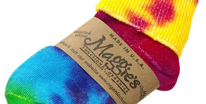 MAGGIE'S FUNCTIONAL ORGANICS INFANT TIE DYE SOCKS INFANT