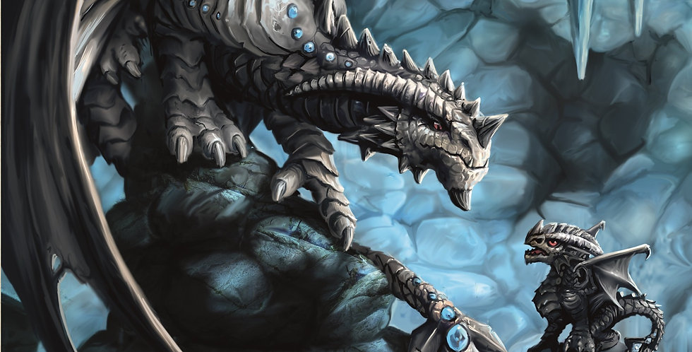 ROCK DRAGON CARDS - 6 PACK