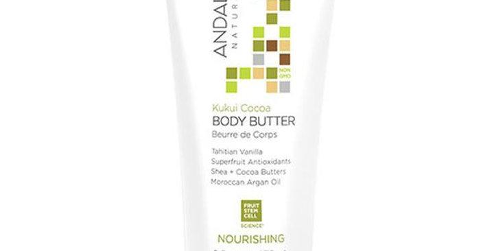 Andalou Naturals Kukui Cocoa Body Butter 8 fl. oz.