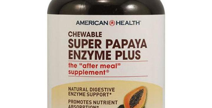 American Health Chewable Super Papaya Enzyme Plus