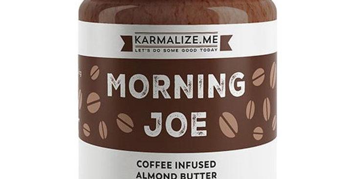 KARMALIZE.ME MORNING JOE COFFEE INFUSED ALMOND BUTTER 6 OZ.