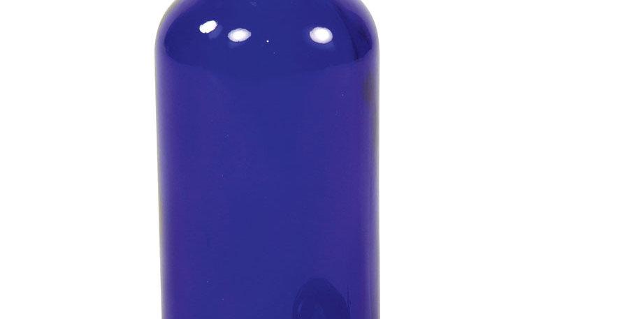 Cobalt Blue Boston Round Bottle with Cap 1 oz