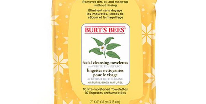 BURT'S BEES WHITE TEA EXTRACT FACIAL CLEANSING TOWELETTES 1 (10 COUNT) PACK