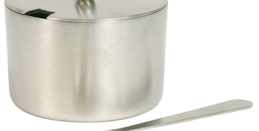 Stainless Steel Salt Cellar with Spoon 2 oz